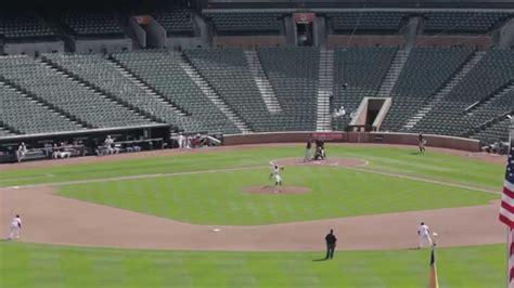 baltimore orioles play in empty ballpark youtube