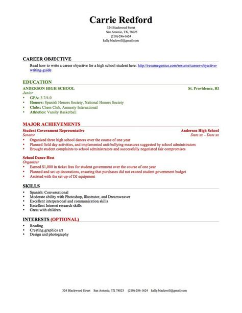 9 college student resume template no experience graphic resume