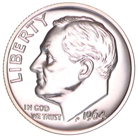 1964 roosevelt dime gem 90 silver proof us coin ebay