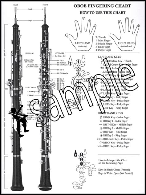 oboe diagram basic instrumental chart for oboe santorella