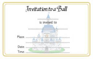 cinderella ball invitation free early years amp primary