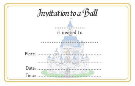 cinderella ball invitation | free early years & primary