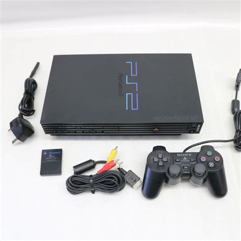 buy ps2 console original charcoal black sony ps2 pstwo playstation 2