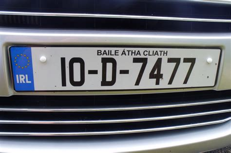 reg europea ireland european registration plates