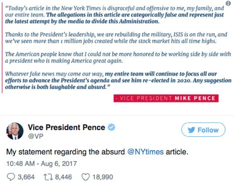 with his termed twitter account rubbishing the rumors his close friend vice president mike pence denies rumors of a 2020