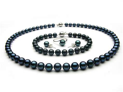 pearl jewelry black akoya pearl jewelry set 6 5 7mm aaa pearl jewelry