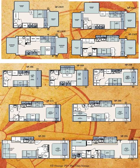 surveyor floor plans forest river surveyor sport travel trailer floorplans