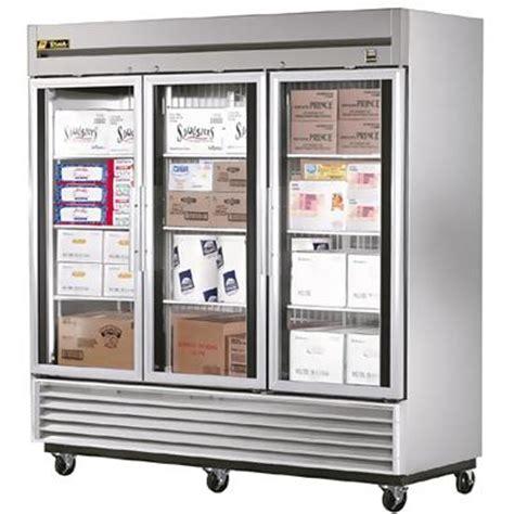 3 Glass Door Freezer True T 72fg Freezer Three Glass Doors Bottom Mount Reach In Freezers Zesco