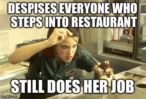Meme Restaurant - image tagged in serving angry imgflip