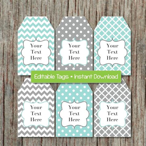 Free Printable Editable Gift Tags editable gift tags printable labels digital collage editable