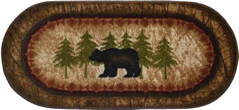 black bear cabin l home decor pinterest rug nonskid black bear kitchen decor lodge cabin rustic 20