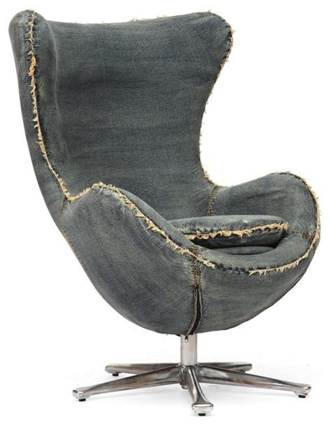 collins blue denim egg arm chair industrial armchairs