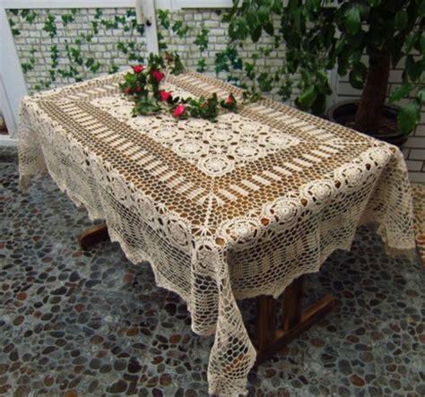 Handmade Crochet Tablecloth - handmade crochet lace tablecloth 55 quot x85 quot 140x216cm
