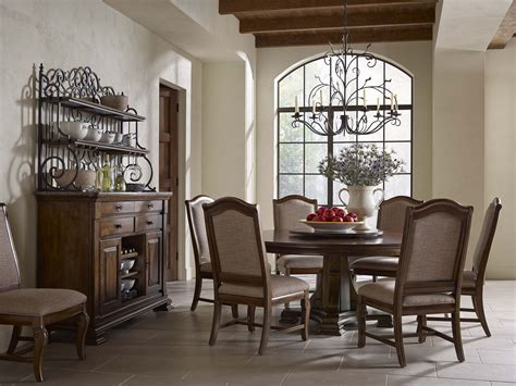 kincaid dining room furniture portolone 72 quot round dining room set from kincaid 95 053t