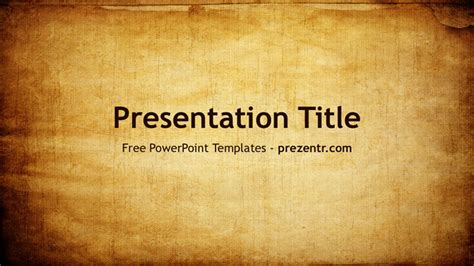 Free Old Paper Powerpoint Template Prezentr Ppt Templates Paper Powerpoint Template