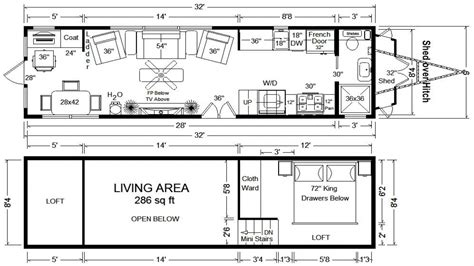tiny house blueprints tiny houses on wheels floor plans tumbleweed tiny house