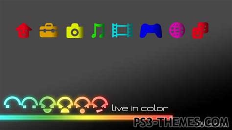 themes live ps3 ps3 themes 187 live in color