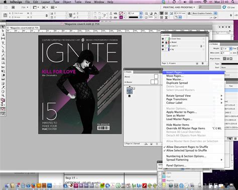 tutorial indesign jornal indesign tutorial how to design a magazine cover with
