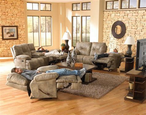 catnapper sofa and loveseat catnapper voyager lay flat reclining sofa set brandy