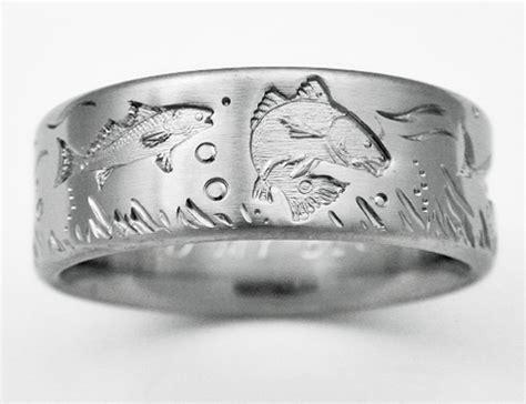 desoto  titanium ring  fish titanium wedding rings