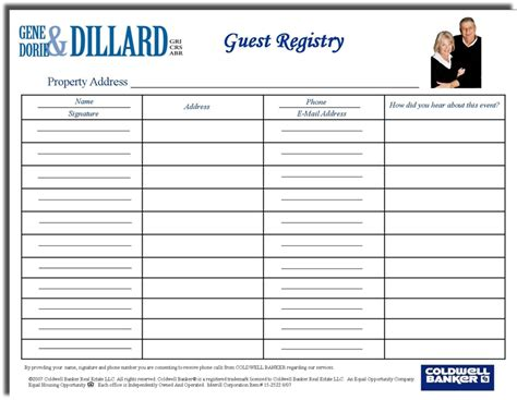 open house guest registration form template search results for open house sign in sheet pdf