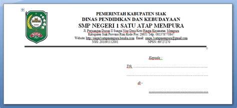 format membuat kop surat cara membuat kop amplop surat resmi arsip online ku