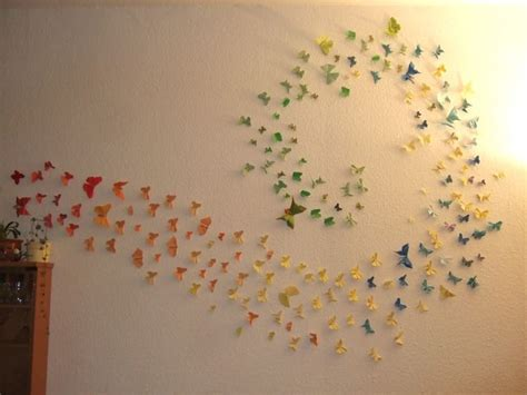 butterfly origami wall decoration homeslice