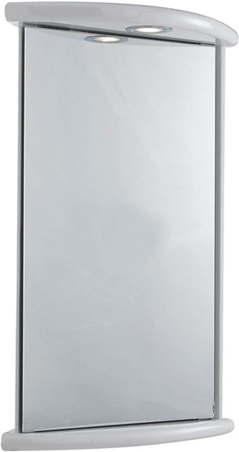 Corner Bathroom Cabinet With Mirror And Light Niche Corner Mirror Cabinet Light Shaver 430x660x280mm