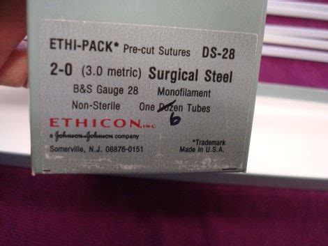 used ethicon ethi pack ds 24 & 28 sutures for sale