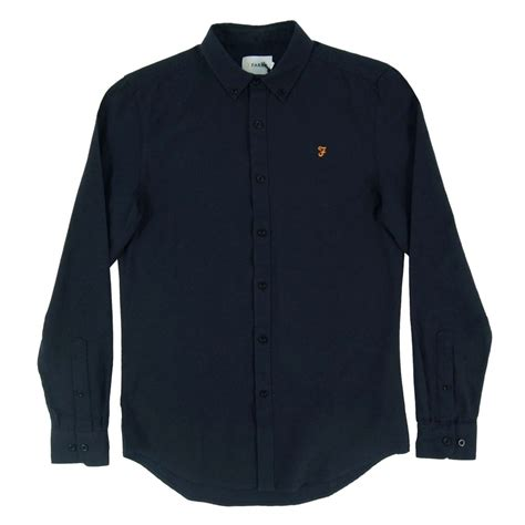 farah stockton shirt true navy mens clothing from attic