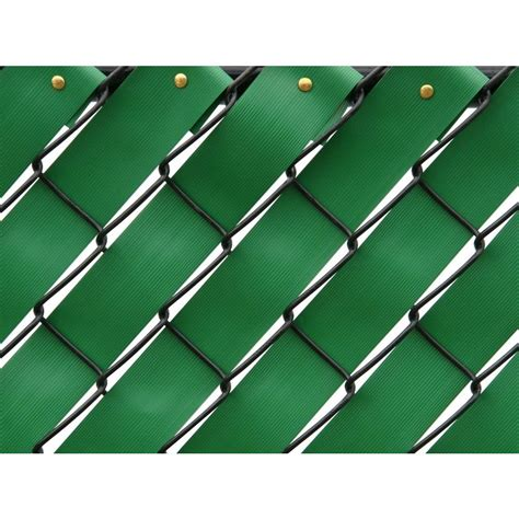 pexco fence slats pexco 250 ft fence weave roll in green fw250 green the home depot