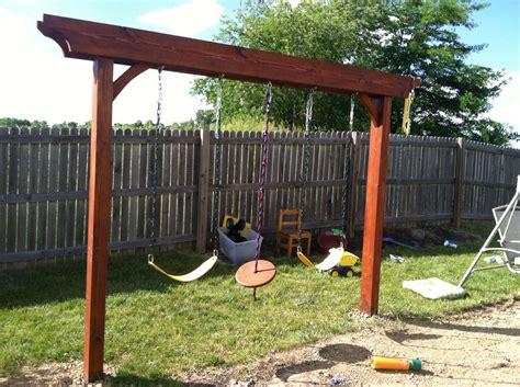 Pergola Swing - pergola swing turned out great gardening ideas diy