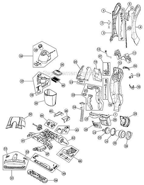 hoover floormate parts diagram hoover fh40005 parts list and diagram ereplacementparts
