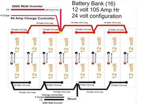12 volt battery wiring diagram house 12 get free image