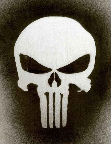the gallery for gt the punisher skull stencil