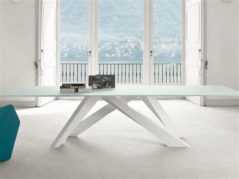 tavolo bonaldo big table bonaldo tavolo tavolo big table fisso acciaio e cristallo