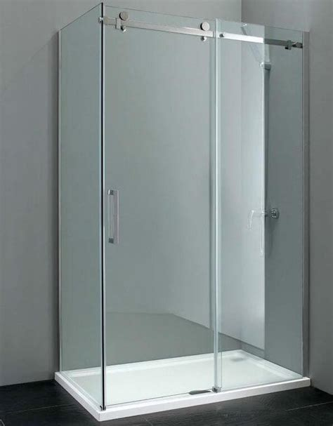 Elite 1200mm Frameless Sliding Shower Door 8mm Glass Sliding Glass Shower Doors Frameless