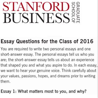 Stanford Sle Essays by What Matters Most To You And Why Stanford Sle Essay Breakdown Of Stanford Gsb Admissions