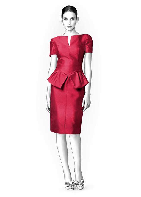 pattern peplum dress dress with peplum sewing pattern 4232 made to measure
