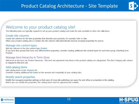 sharepoint 2013 product catalog site template sharepoint 2013 search driven spshou