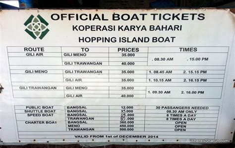 best things to do in gili trawangan and the gili islands - Gili Air Boat Schedule