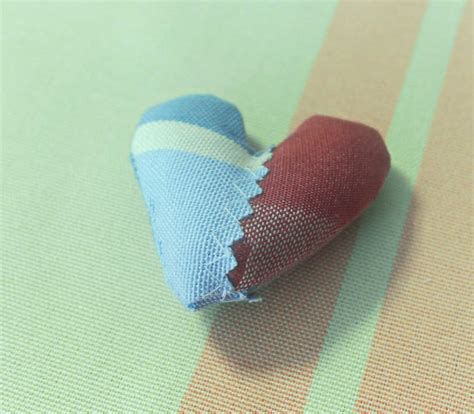 pattern for heart pincushion buy fabric heart with pattern pincushion small online at