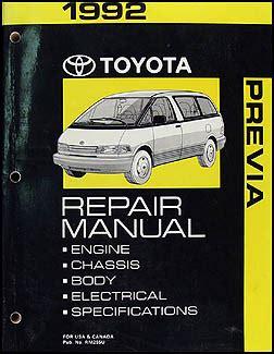 auto repair manual online 1992 toyota previa free book repair manuals 1992 toyota previa wiring diagram manual original