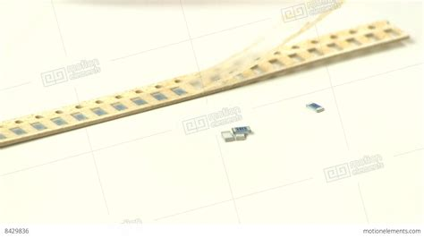 surface resistor surface mount resistors stock footage 8429836