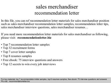 Recommendation Letter Best Sle Sales Merchandiser Recommendation Letter