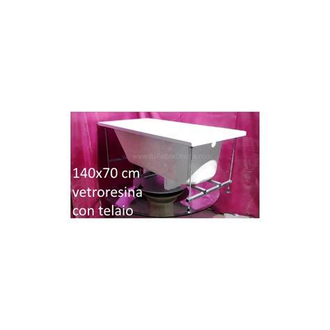 vasca 140x70 vasca da bagno con telaio rinforzato in vetroresina misura