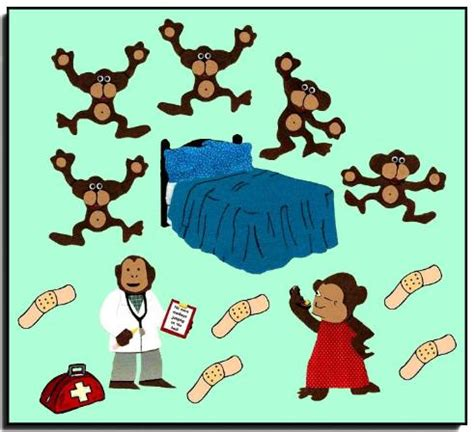 five monkeys jumping on the bed five little monkeys jumping on the bed storytelling felt set
