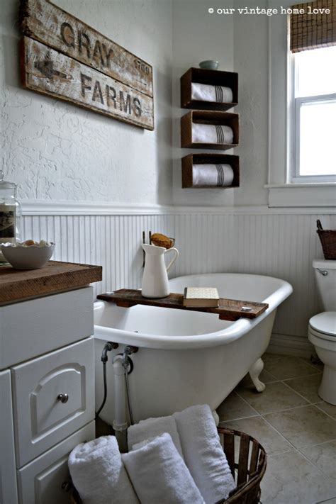 Farm Bathroom Decor by Our Vintage Home Farmhouse Bathroom