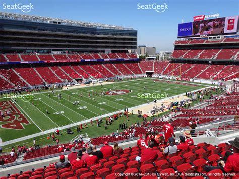 sec section levi s stadium seat views seatgeek