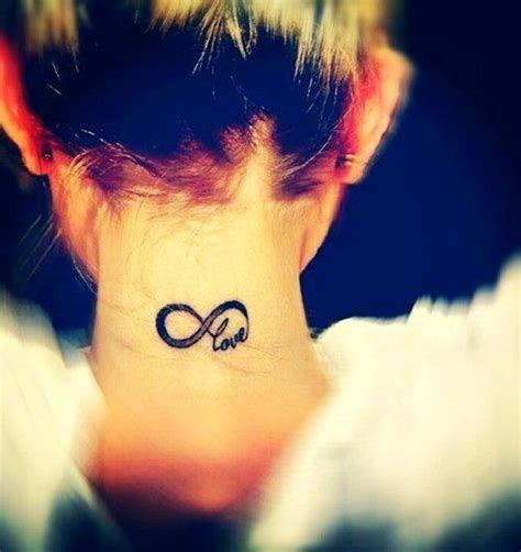 tattoo infinity neck small neck tattoo infinity love tattoo small but
